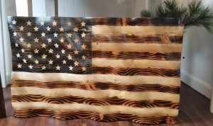 Custom Wooden Flag